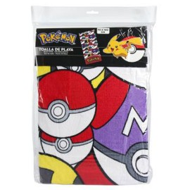 TOALLA POKEMON 70X140 PLAYA