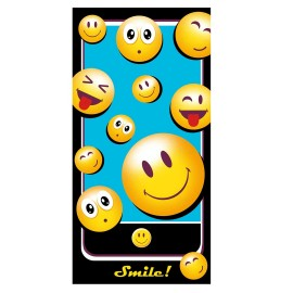 TOALLA PLAYA SMILEY RIZO 75x150
