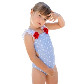 Trikini Dolce Petit niña anclas y estrellas