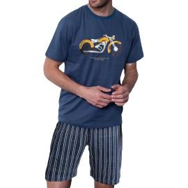Pijama Antonio Miró hombre corto moto
