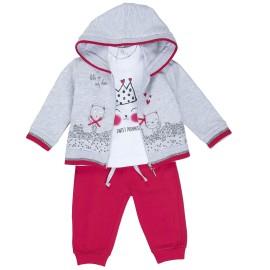 CHANDAL BABY-BOL NIÑA 3 PIEZAS