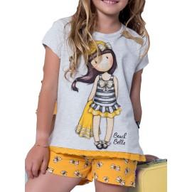 Pijama Gorjuss Santoro niña amarillo mostaza