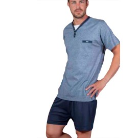 Pijama Kler clasico hombre corto verano