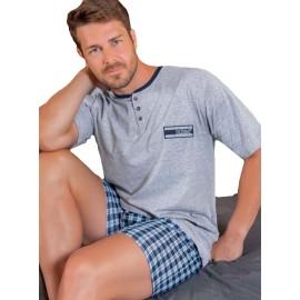 Pijama hombre Kler cuadros corto clásico