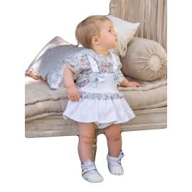 Conjunto Dolce Petit peto bebé braguita blusa