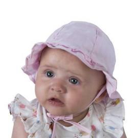 Gorro bebé de tela con volante Miralles