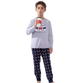 Pijama Niño Admas Vaso Refresco Algodón