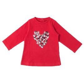 Camiseta Baby-Bol Niña Corazón