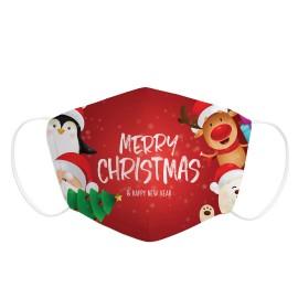 "Mascarilla infantil Navidad "" Merry Christmas"""
