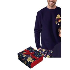 Pijama Admas Hombre Navidad Galletas Algodón