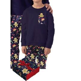 Pijama Navidad Niño Admas Algodón Galletas