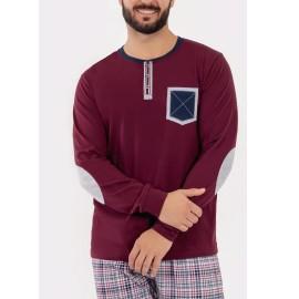 Pijama hombre Kler cuello tapeta