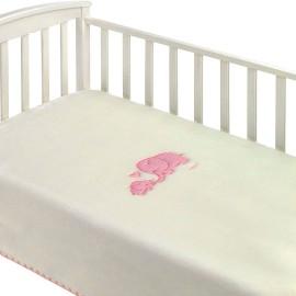 Manta cuna bebé Elefante Mora 110x160