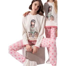 Pijama Gorjuss Mujer Santoro Algodón