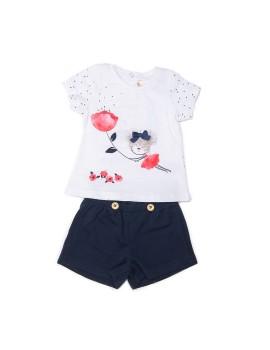 Conjunto para niña con short y camiseta