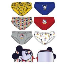 Slip niños pack 6 +neceser Mickey