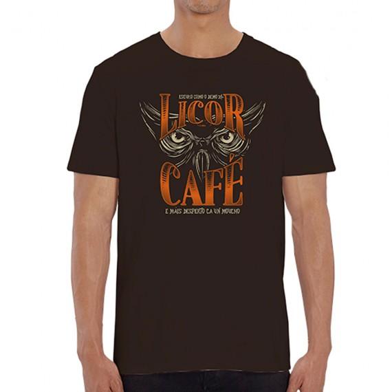 """Camiseta Nikis """"Moucho licor café"""" Unisex"""