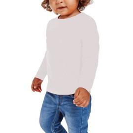 Camiseta básica algodón para bebé de manga larga de Roly
