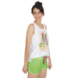 Pijama Mujer Santoro Verano Algodón Cebras