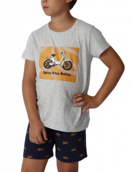 Pijama Admas Niño Verano Algodón Moto