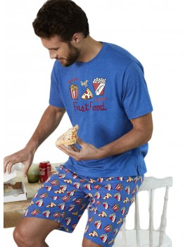 Pijama Admas Hombre Verano Comida Rápida Algodón