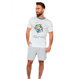Pijama MuyDemi Hombre Corto Cubo Rubik