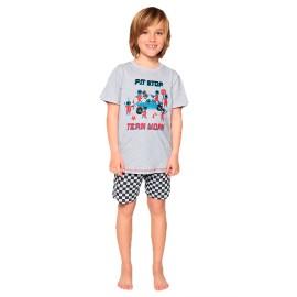 Pijama Niño MuyDemi Verano Algodón Carreras