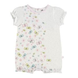 Pelele corto para bebé con mariposas