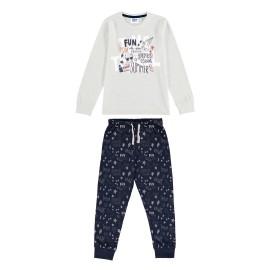 Pijama largo algodón fino para niños de katuko.