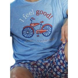 Pijama hombre Admas algodón con bolsillos para hombre