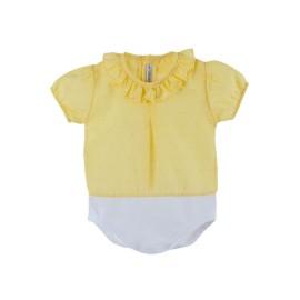Body Camisa Calamaro Bebé Plumeti Verano