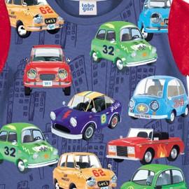 Pijama corto de algodón niños de Yatsi coches
