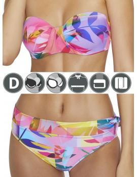 Bikini tropical bandeau Ysabel Mora copa D