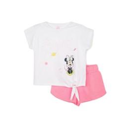 Conjunto niña Minnie con short y camiseta