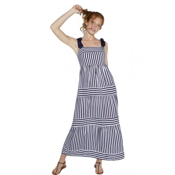 Vestido largo Ysabel Mora rayas