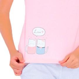 Pijama Marie Claire Mujer Gatos Verano Algodón
