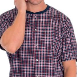 Pijama Hombre Kler Clásico Abierto Verano Cuadros Algodón