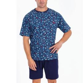 """Pijama Hombre Verano Kukuxumusu """"Kaput"""" Ovejas Algodón"""