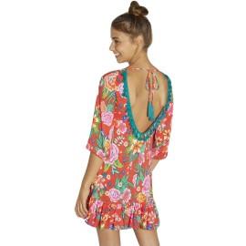 Vestido Ysabel Mora tropical espalda descubierta