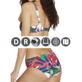 Bikini Ysabel Mora copa D estampado tropical.