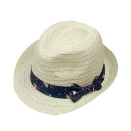 Sombrero para niña MBS con cinta estampada