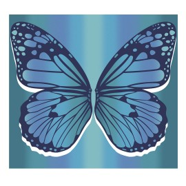 Pareo Doble Secaneta Mariposa Algodón 210X230
