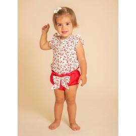 Conjunto blusa y pololo Calamaro bebé cerezas