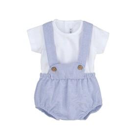 Conjunto pololo con tirantes y camiseta Calamaro bebé