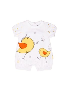 Camiseta bebé manga corta pollitos