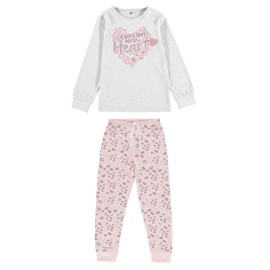 Pijama Largo Niña Yatsi Verano Corazón Animal Print