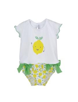 Conjunto de baño de limones para niña de Calamaro