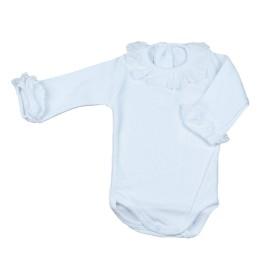 Body Calamaro Básico Bebé Algodón Manga Larga