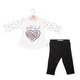 Conjunto camiseta y legging canalé niña Baby bol
