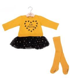 Vestido Baby bol niña falda tul y leotardos